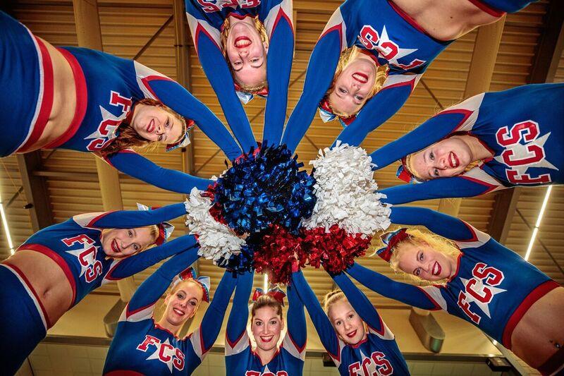 <strong>Cheerleaderformatie Frisian Cheer Stars uit Heerenveen</strong>